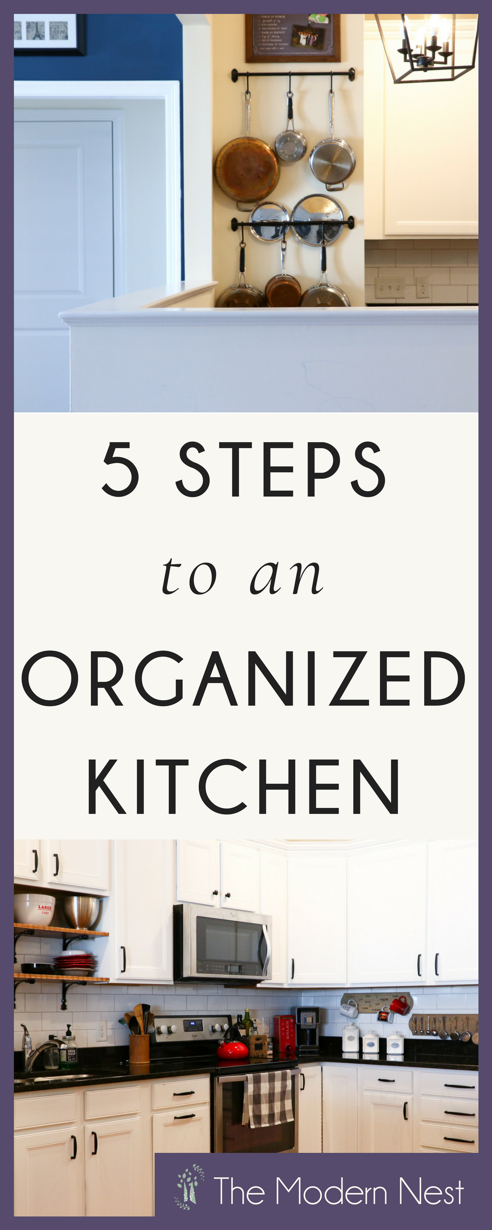 5 Steps to an Orderly Kitchen | Organizing, Organizations and Kitchens