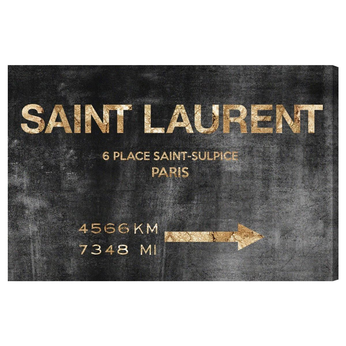 Road Sign Wall Decor Simple Oliver Gal Saint Sulpice Road Sign Canvas Wall Art Laylagrayce Design Ideas