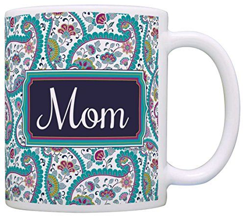 Mothers Day Gift for Mom Birthday Gift Gift Coffee Mug Tea Cup Paisley ** For more information, visit image link.