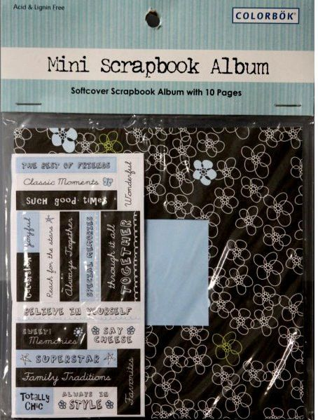 Colorbok Mini Scrapbook Kit is available at Scrapbookfare.com.