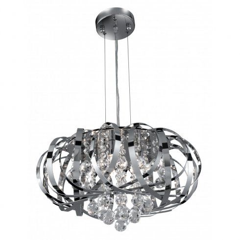 Searchlight 6975 5cc chrome pendant light with crystal detail