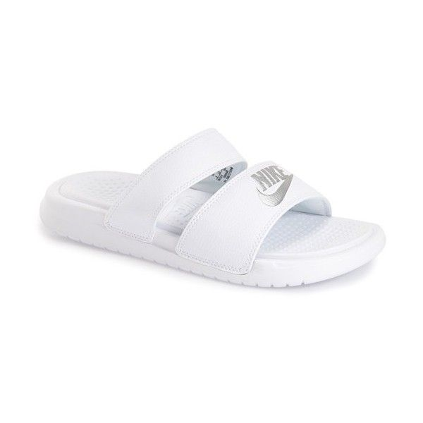 b5595b5207bf Women s Nike  Benassi - Ultra  Slide Sandal ( 40) ❤ liked on Polyvore  featuring shoes