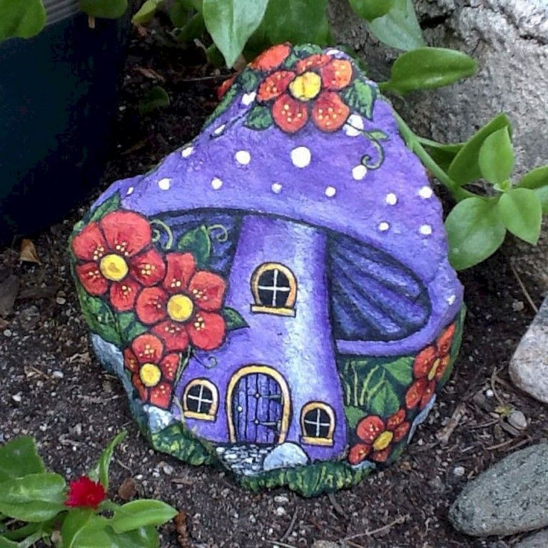 Painted rocks for the garden