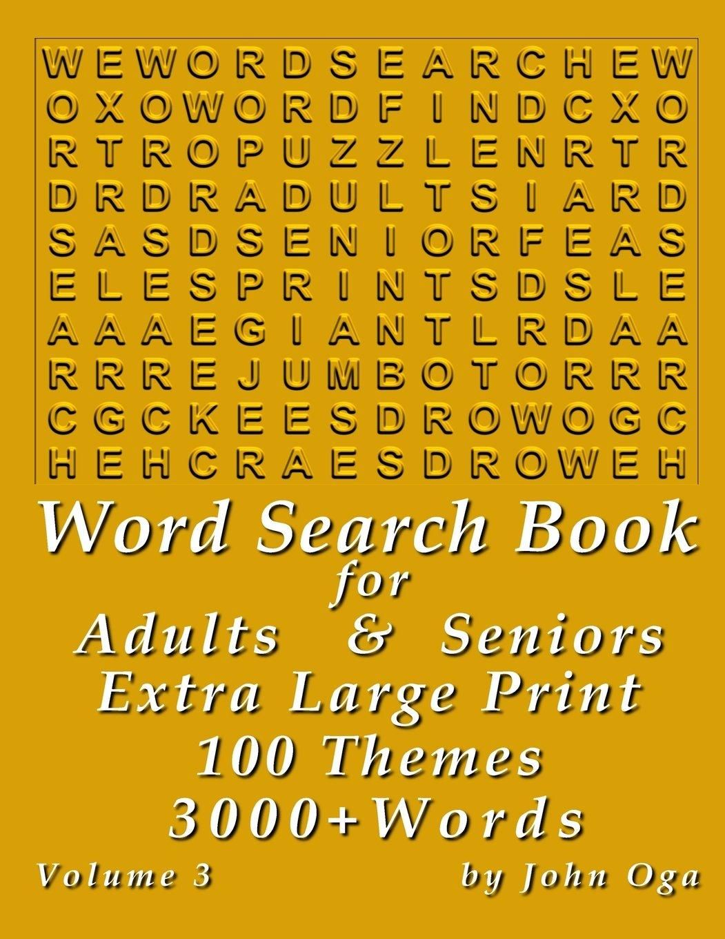 Word Search Book For Adults Amp Seniors Extra Large Print