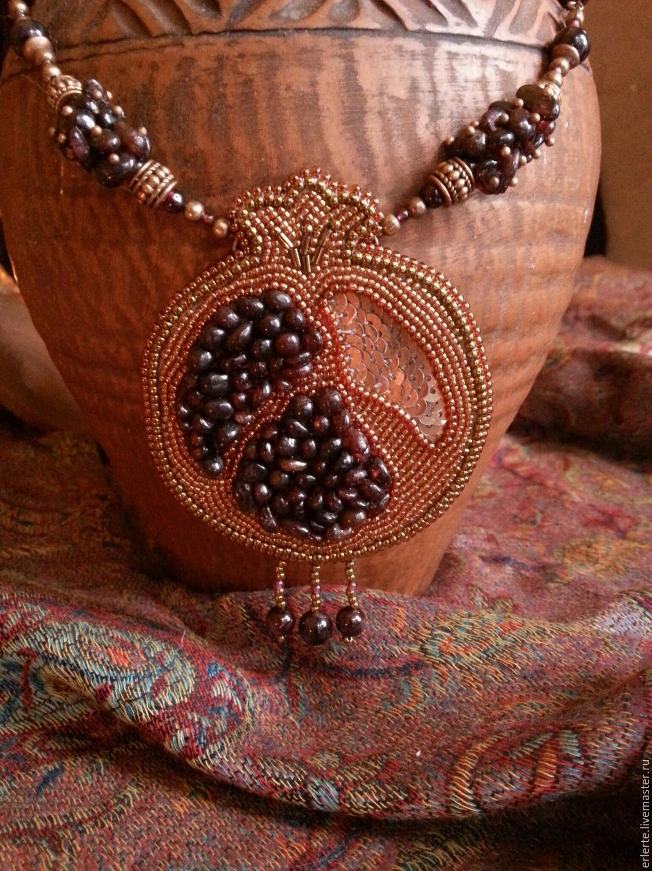 Вышивка бисером с натуральными камнями