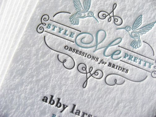 Look at this beauty! #Letterpress business card for Style Me - Letterpress Business Card