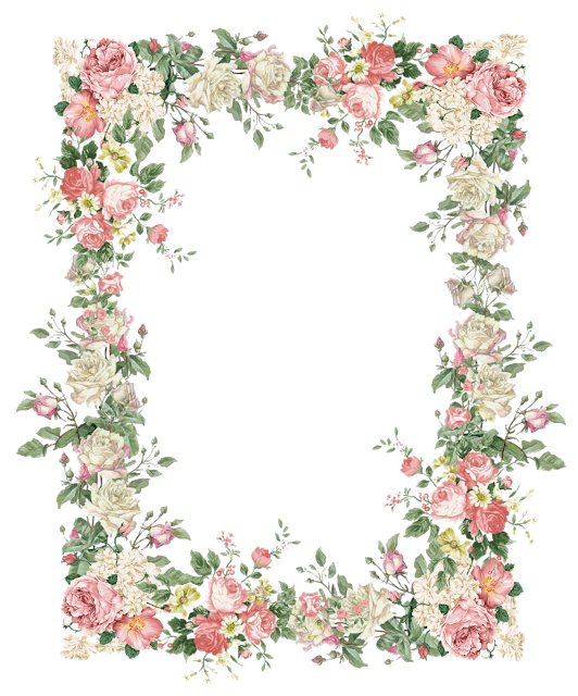 Free Digital Vintage Rose Frame Png Flower Treasure Vintage Rosenrahmen Freebies Flower Frame Png Flower Frame Rose Frame