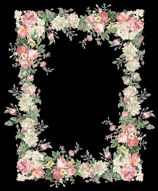 free faux vintage flower frame png vintage rosenrahmen freebies