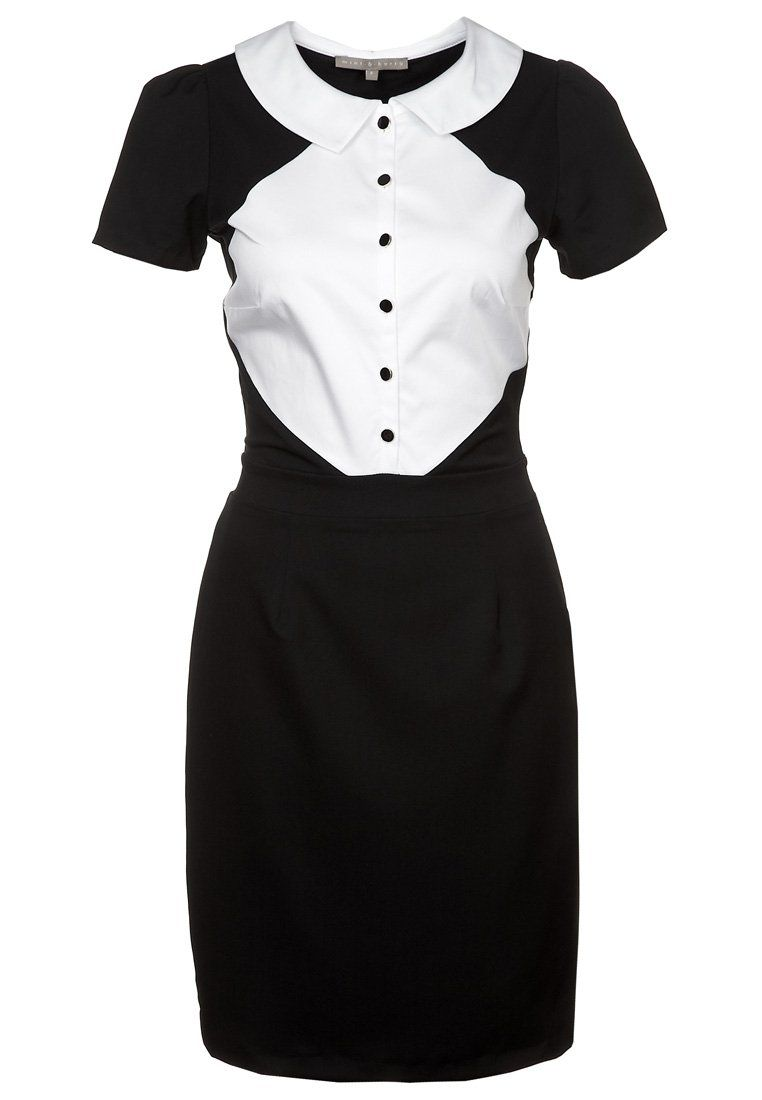 mint Black & White Dress