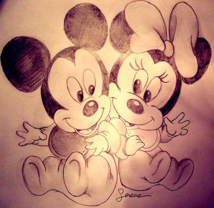 Disegni A Matita Disney Topolino
