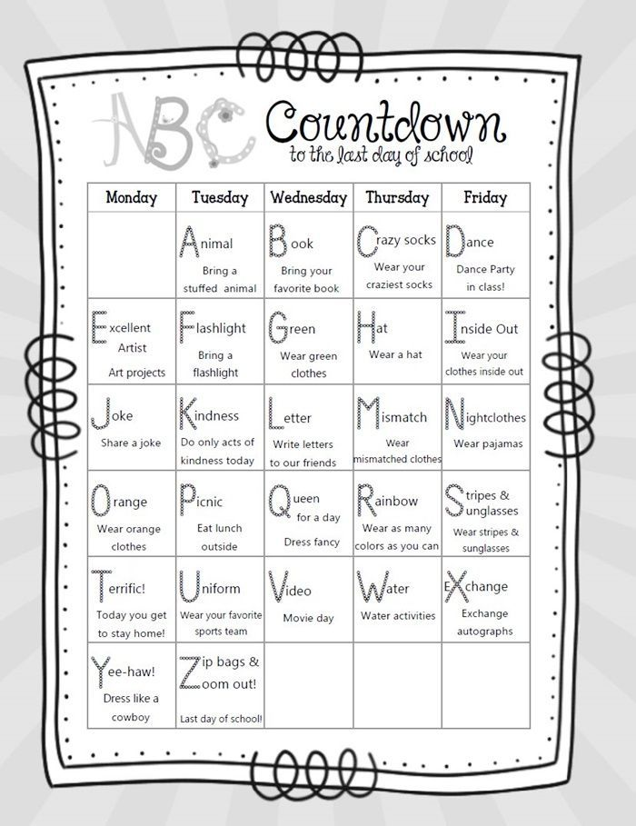 count down calendars