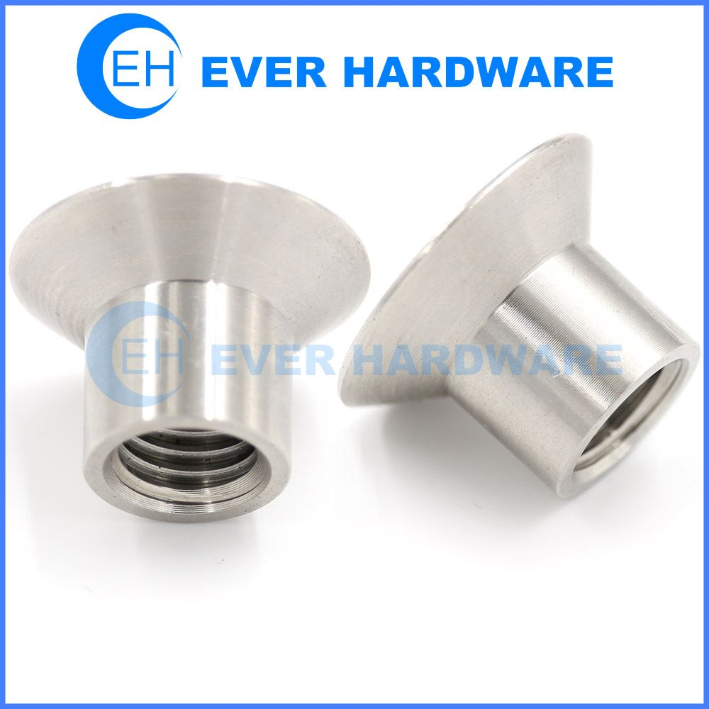M4 Sleeve Nut Flat Countersunk Head Barrel Nuts Stainless Fasteners Wood Shop Cnc Parts Hardware
