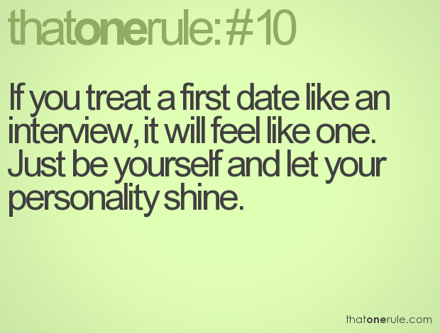 Just be yourself in dating