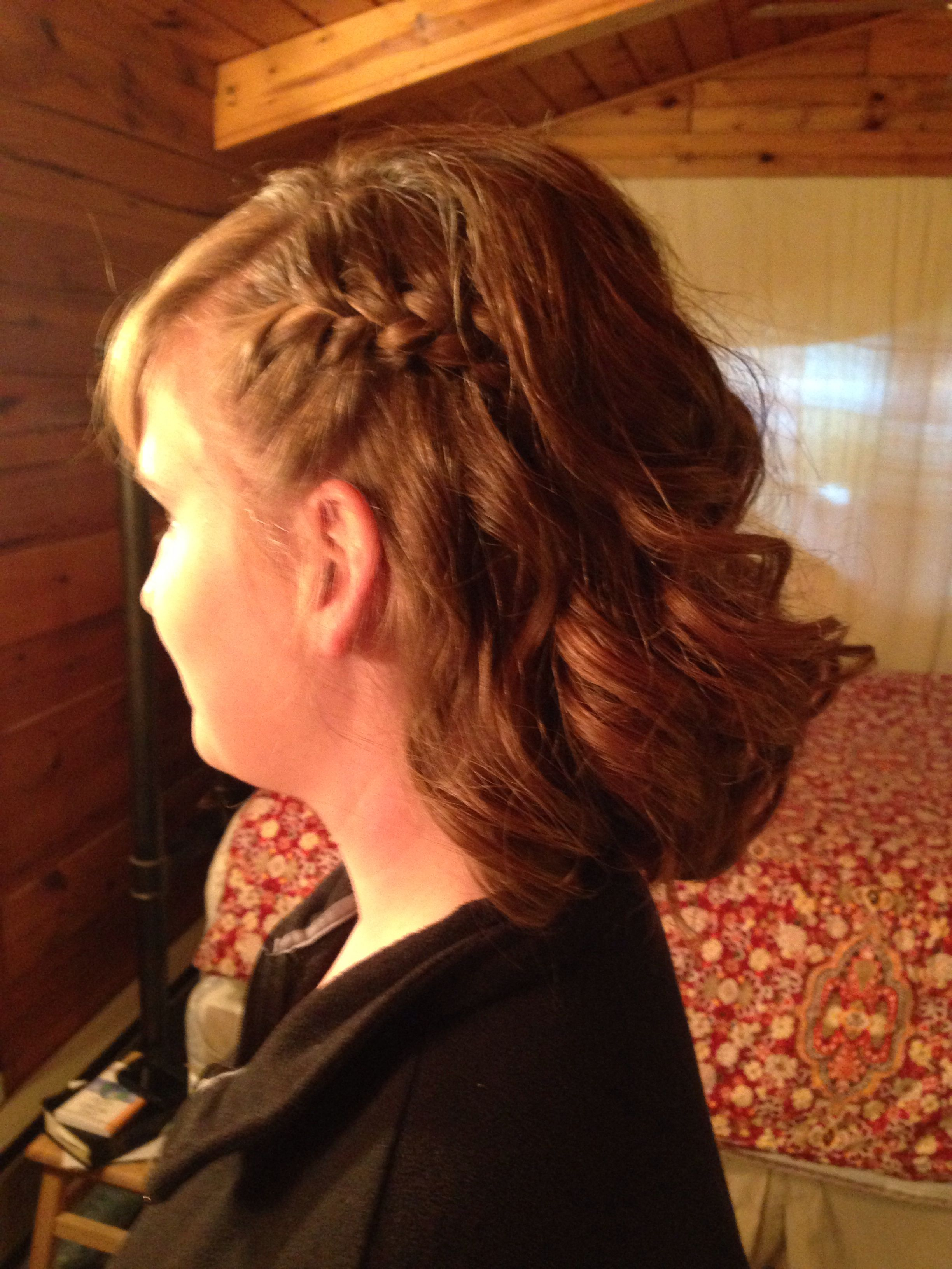 Braided curly promhomecoming hairstyle random favorites uc