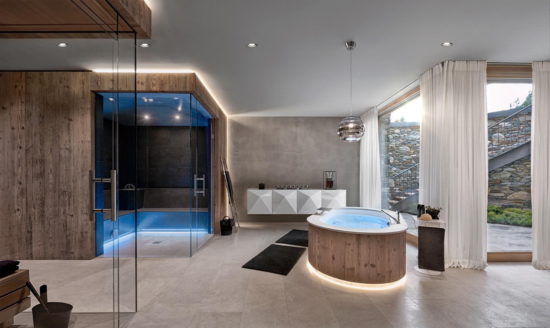 Gasteiger Bad Kitzbuhel Wellness Sauna Dampfbad Schwimmbad Whirlpool Luxury Bathroom Home Spa Room Bathroom Model
