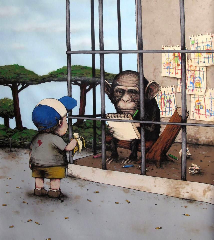 Dran, Monkeys