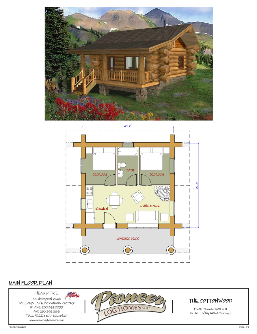 Pioneer log Homes Midwest-cottonwood plan | Floor Plans | Pinterest ...