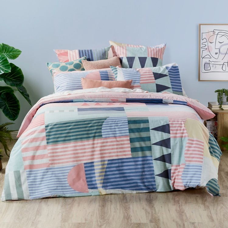 Koo Cuba Quilt Cover Set Multicoloured In 2021 Quilt Cover Sets Quilt Cover Quilted Duvet