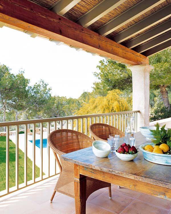 Casas de campo jardines patios porches terrazas casas de campo jardines y porches - Porches de casas de campo ...