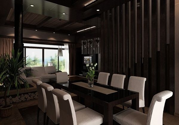Furniture Gorgeous Black And White Dining Room Sets With
