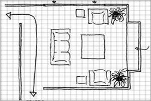 woonkamer indelen met een grondplan | Annet | Pinterest - Woonkamer ...