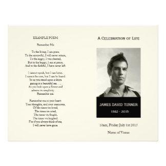 Black  Cream Order Of Service Funeral Program  X  Flyer