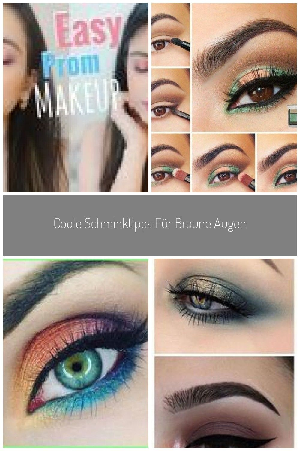 How To Easy Prom Makeup Colorful Eye Makeup Tutorial Step By Step With Affordable Products Affordable Colorful Easy Eye Make In 2020 Augenbrauen Augen Brauen
