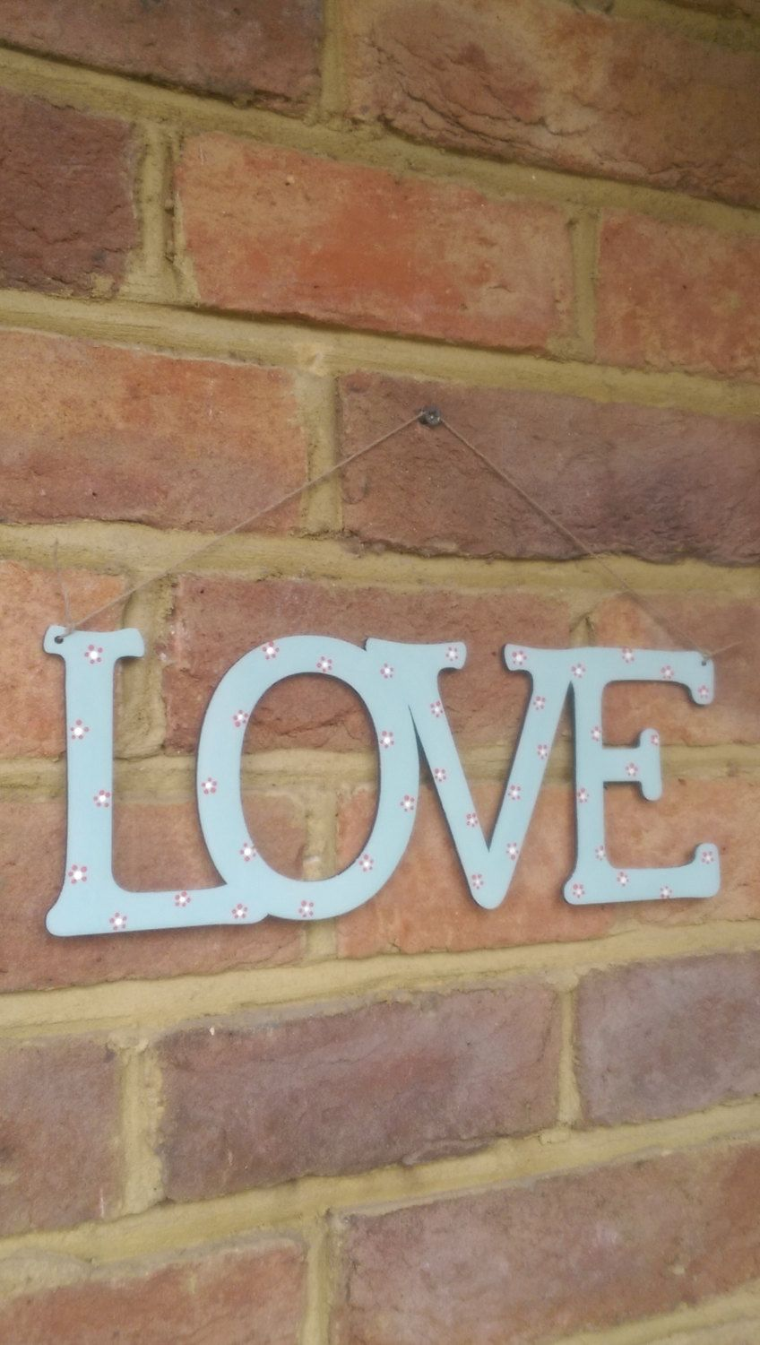 Wedding Gift Painted Wooden Love Sign Wooden Home Decor Wedding Present Anniversary Gift Birthday Gift Handmade In England Uk Wood Interior Design Wood Home Decor Home Decor