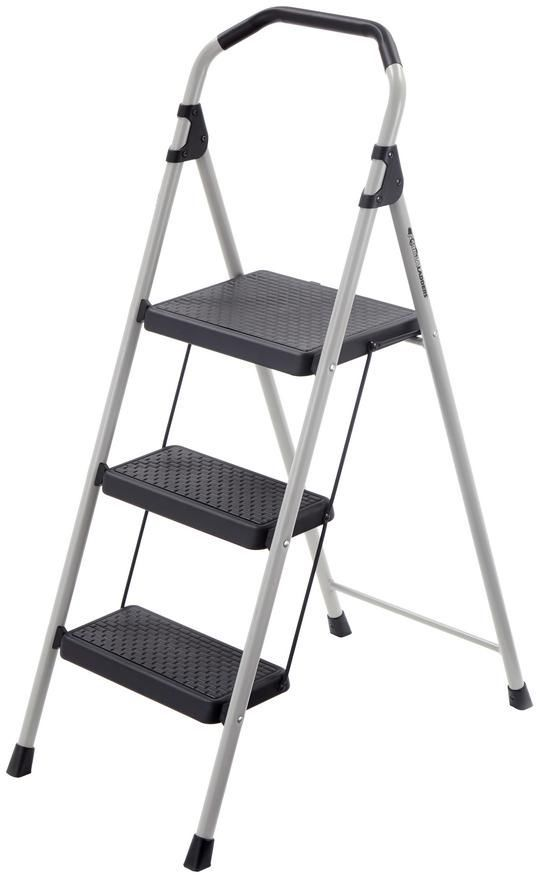 Gorilla 4 Ft 3 Step Lightweight Folding Steel Step Stool Ladder 225 Lb Capacity Tricamindustries Step Stool Ladder Metal Step Stool