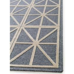 Photo of benuta short pile carpet North Beige / Blue 200×290 cm – Modern carpet for living room benuta