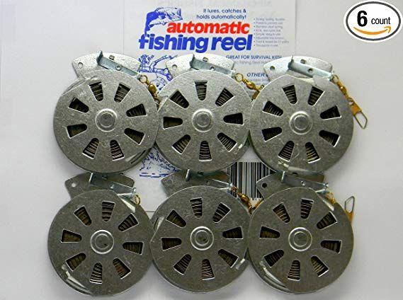 Lot of 6 Mechanical Fishing Snare Reel Yo Yo Hunting