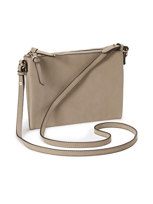 SAND Faux-Suede Crossbody - Old Navy (I found a dark green one in store,  but I like sand, too!) bb9a8919cc