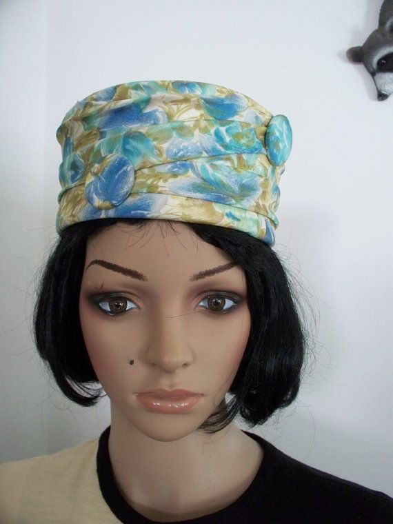 53e3a214cd8 60s Vintage Women s Hat PIll Box Jackie O. Style Fisk Chicago