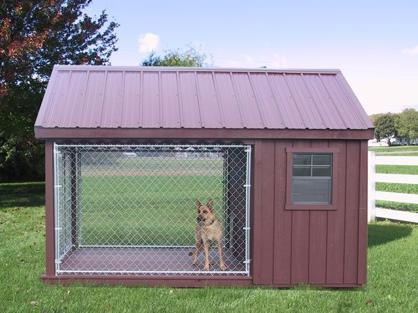 Dog run outdoor kennel k9 house amish pa dutch custom for Dog run outdoor kennel house