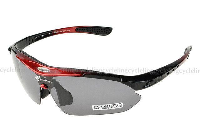 3359ea093a RockBros Polarized Cycling Eyewear Outdoor Sports Bike Bicycle Sunglasses  TR90 Goggles Windproof 5 Lens Eyewear Myopia