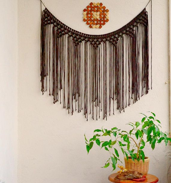 Large Macrame wall hanging Fiber wall art Macrame curtain | Macrame ...