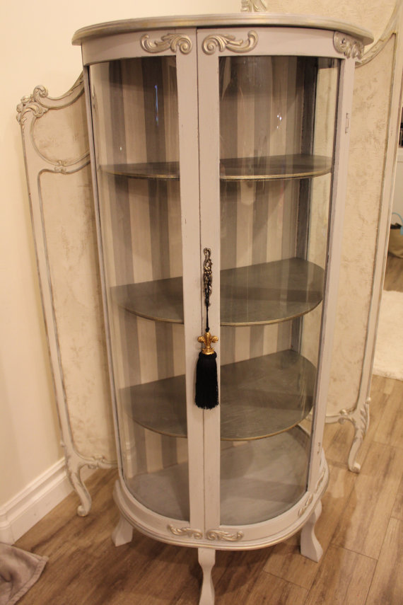 Sold Refinished vintage French provincial curio by WoodRemains ...