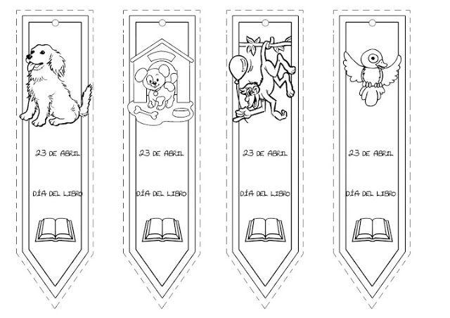 PEQUES Y PECAS...: MARCA PAGINAS PARA COLOREAR. | Animació Lectora ...