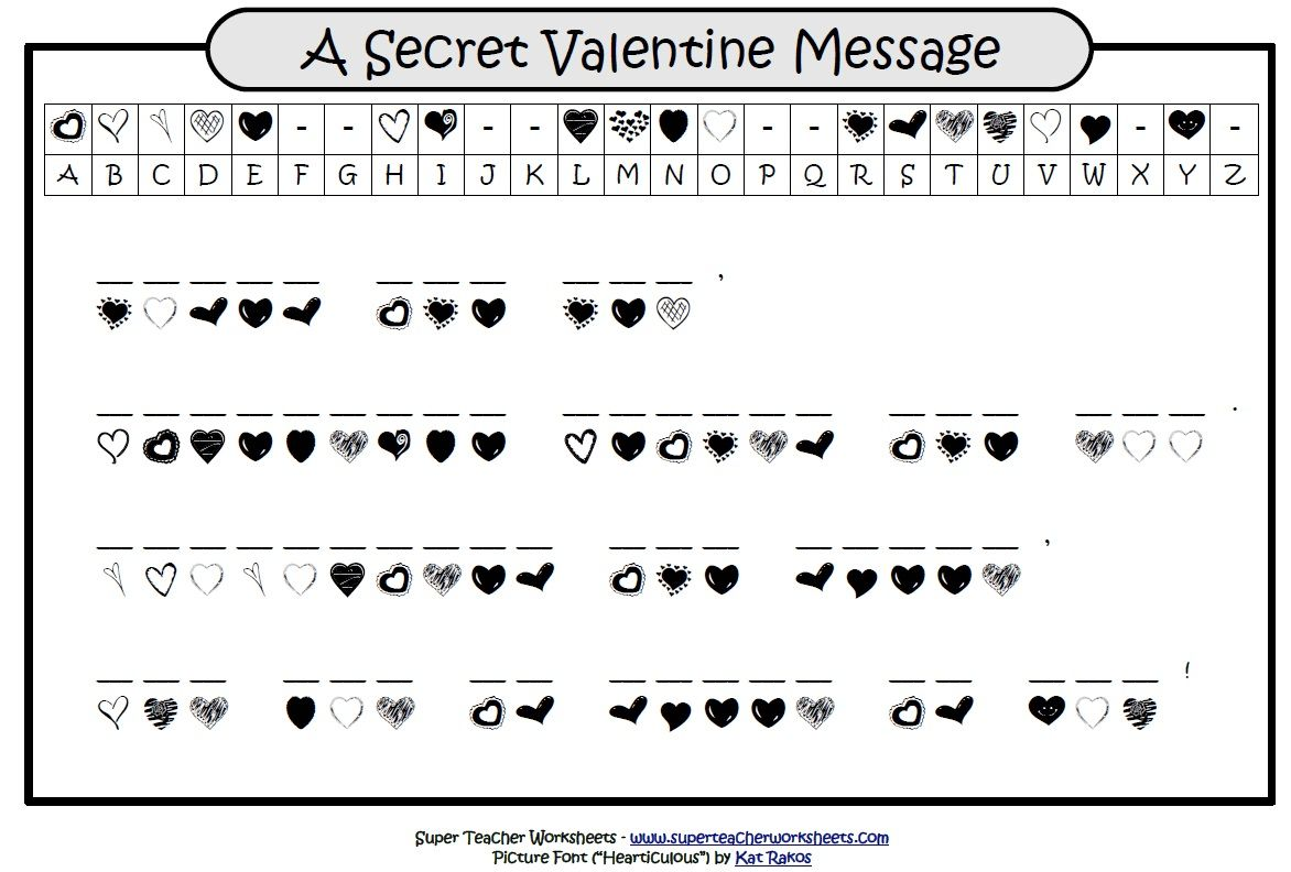 worksheet Superteacher Worksheets happy valentines day heres a super teacher worksheets cryptogram your students will enjoy