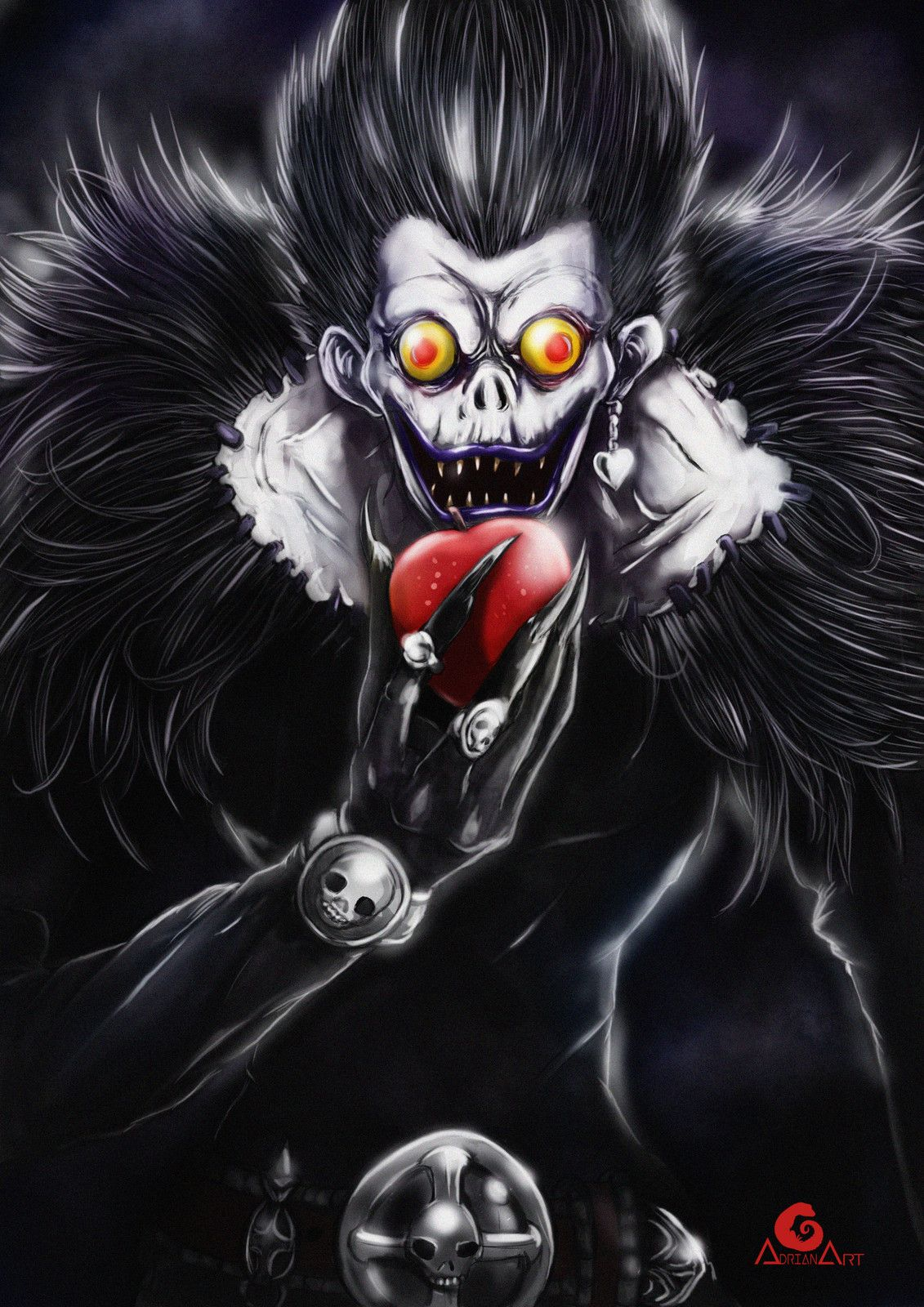 Ryuk (Death note) , Adrian Art on ArtStation at https