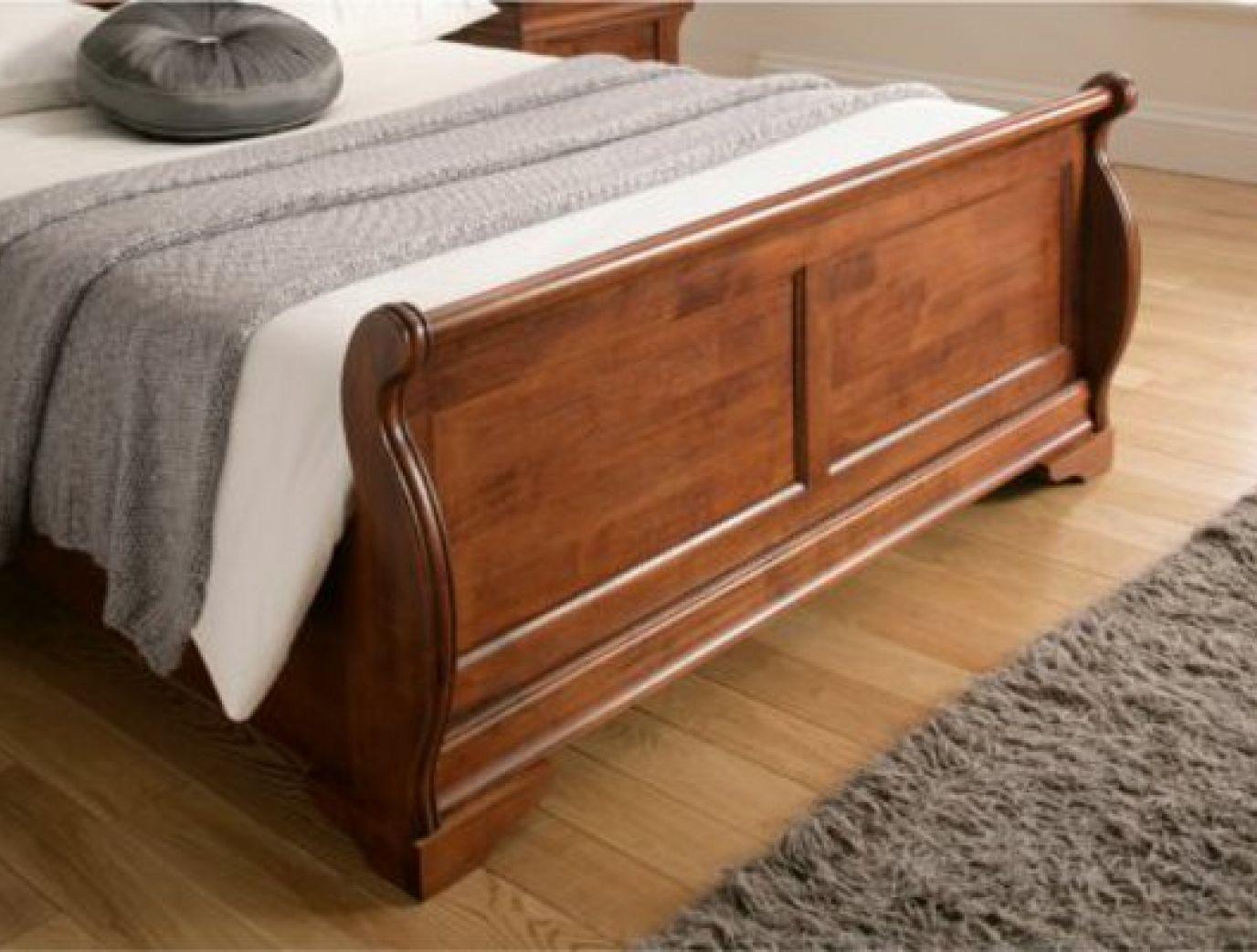 - Louie Dark Wooden Sleigh Bed Wooden Sleigh Bed, Wood Bed Design