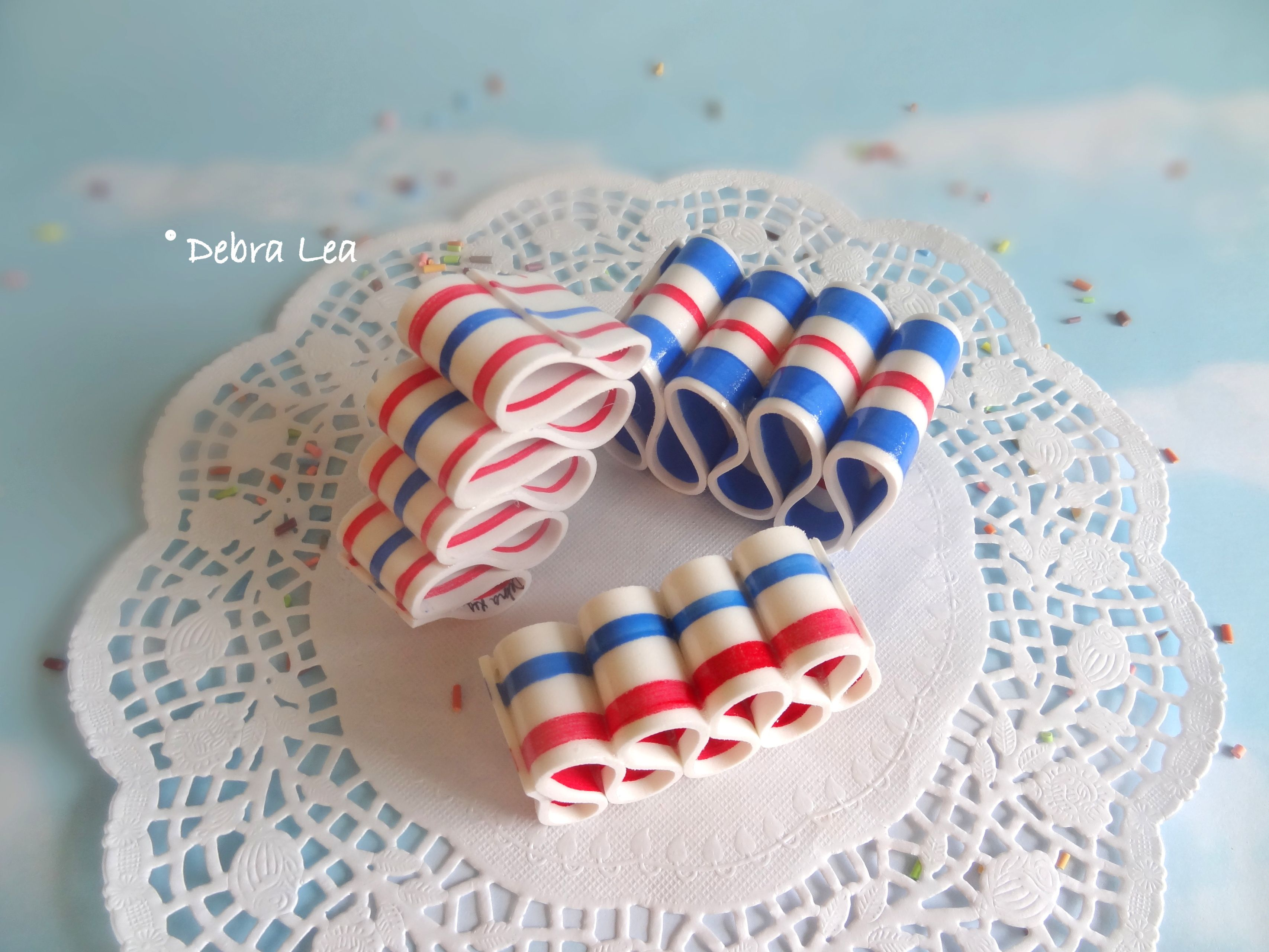 FAKE CANDY Faux Ribbon Candy Patriotic July 4th RB13 - Imagine Out Loud