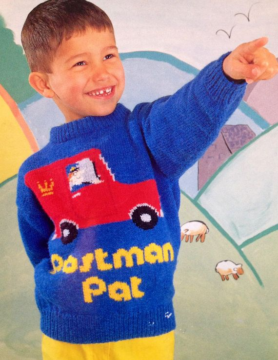 Postman pat knitting pattern character intarsia by ecbcrafts postman pat knitting pattern character intarsia by ecbcrafts dt1010fo