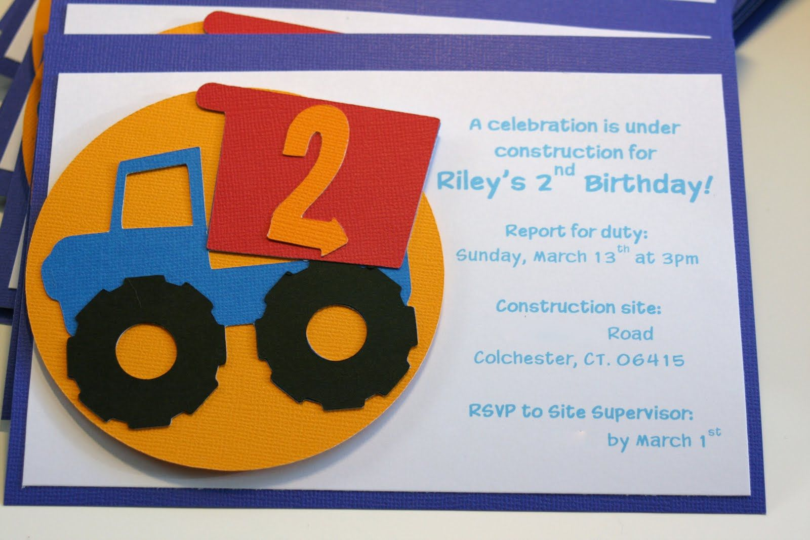 Cricut Birthday Cards Free ~ Construction birthday party cricut boys will be boys gina de