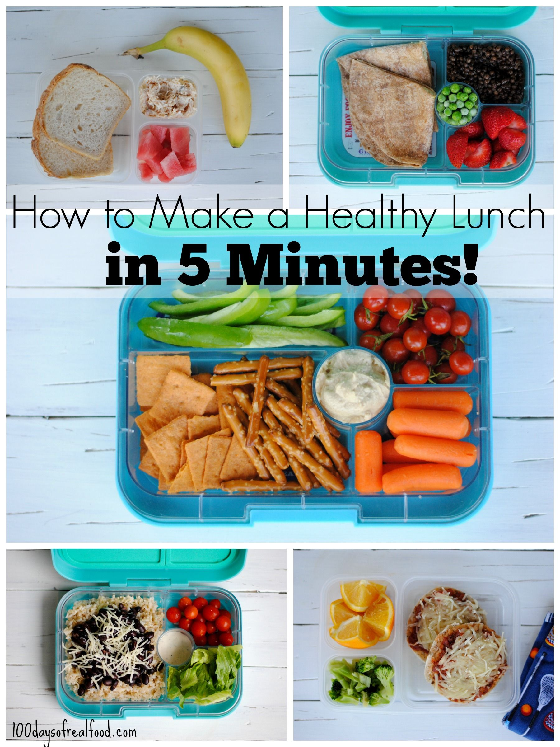5 Healthy Packed Lunches In 5 Minutes