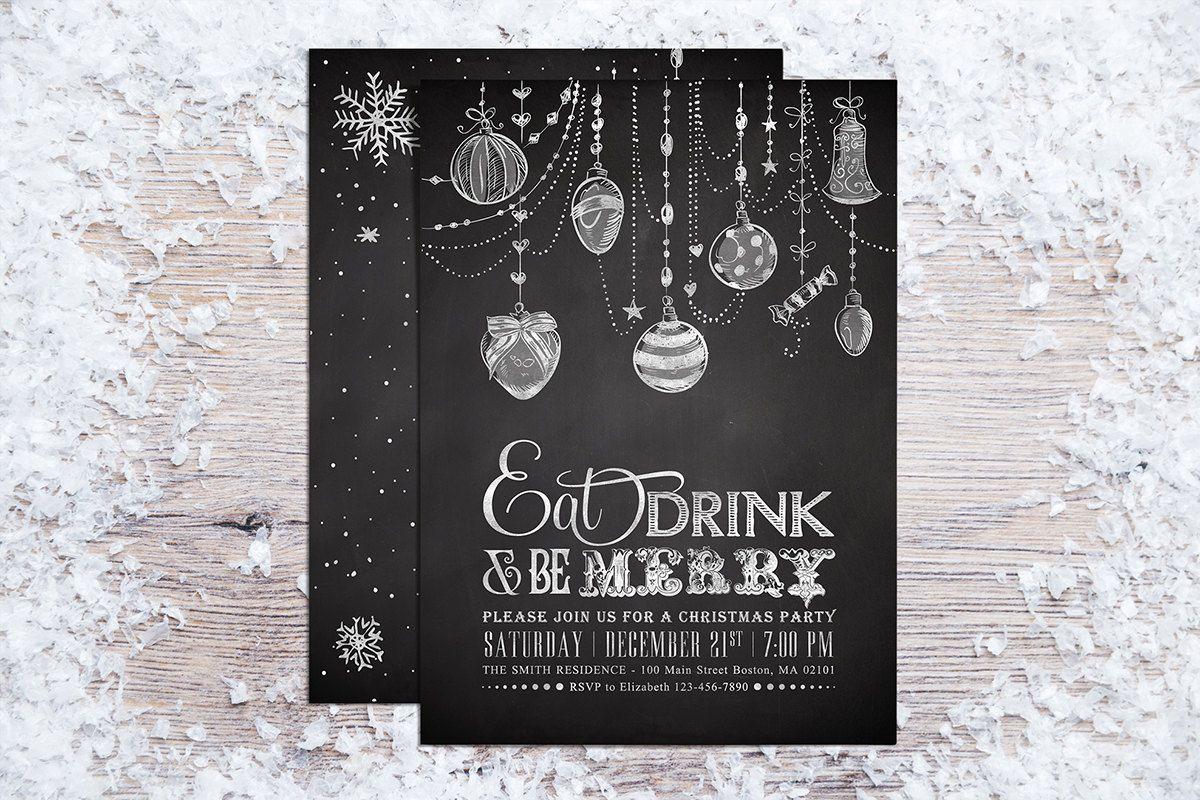 Afdrukbare kerst uitnodigingen uitnodiging voor feest door plpapers