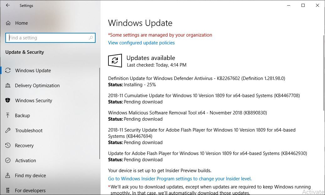 Windows 10 cumulative update (KB4467708) fails to install