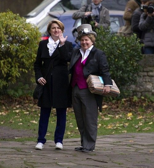 Sandi Toksvig At David Mitchell S Wedding To Victoria Coren