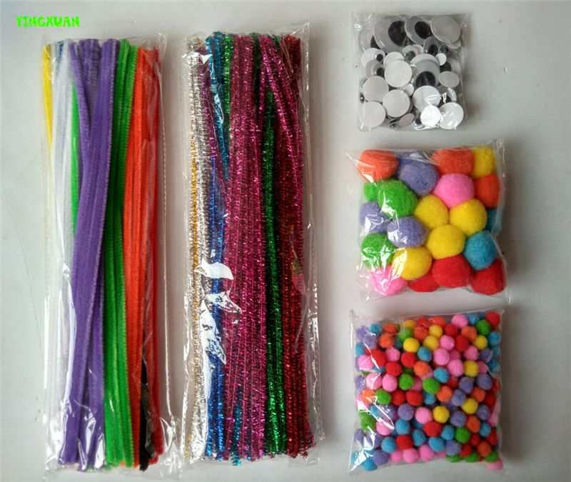 Cheap Kids Diy Buy Quality For Directly From China Suppliers Happyxuan 5 Packs Lot Mixed Chenille Stems Pipe Cleaners Pompoms Turning