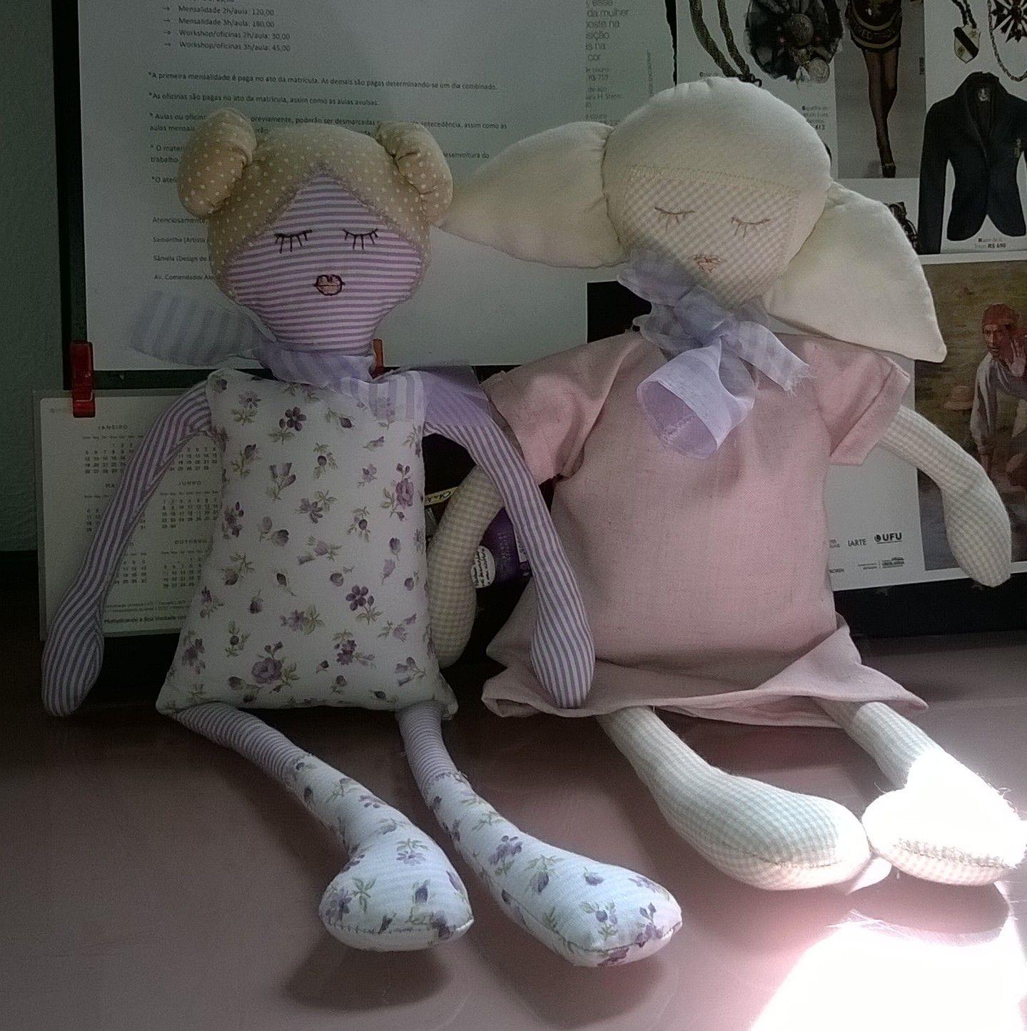 Bonecas de tecido por Samantha e Simone